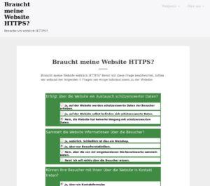 Braucht meine Website HTTPS?