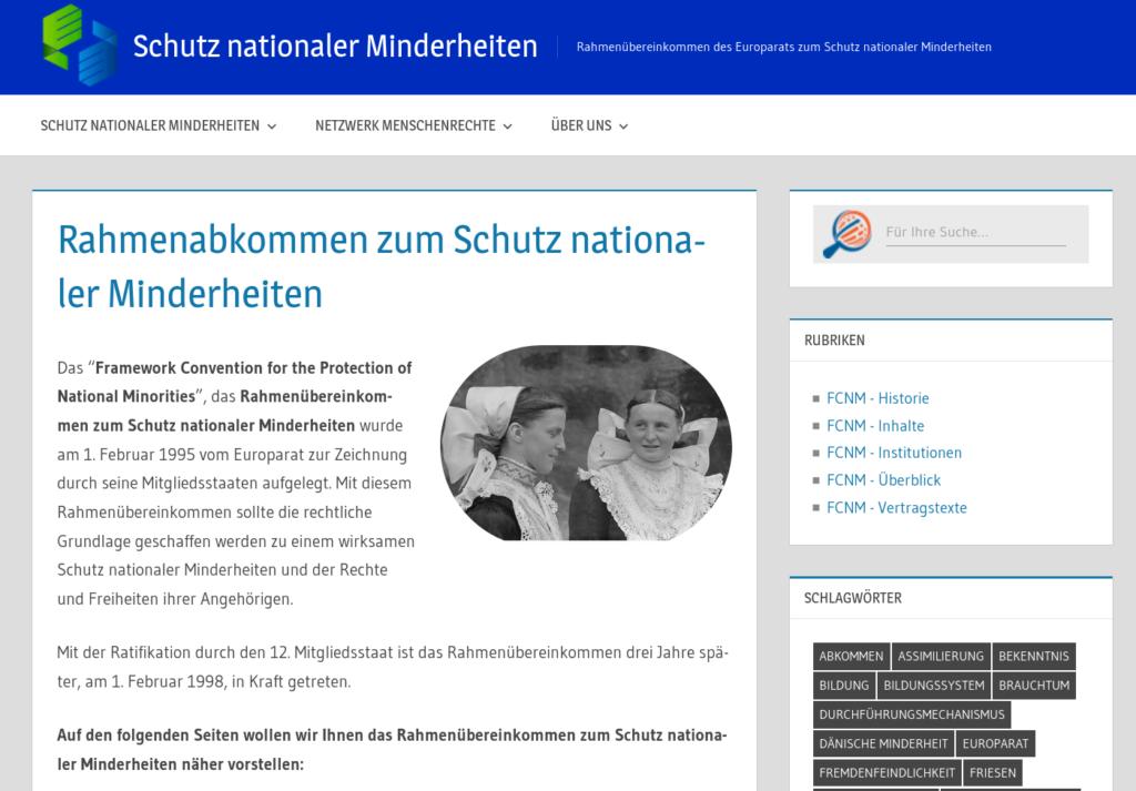 Schutz nationaler Minderheiten