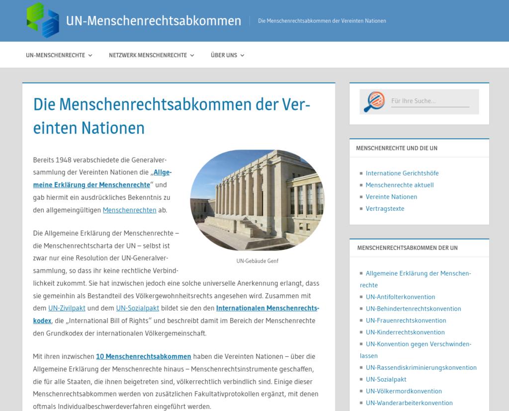 UN-Menschenrechtsabkommen