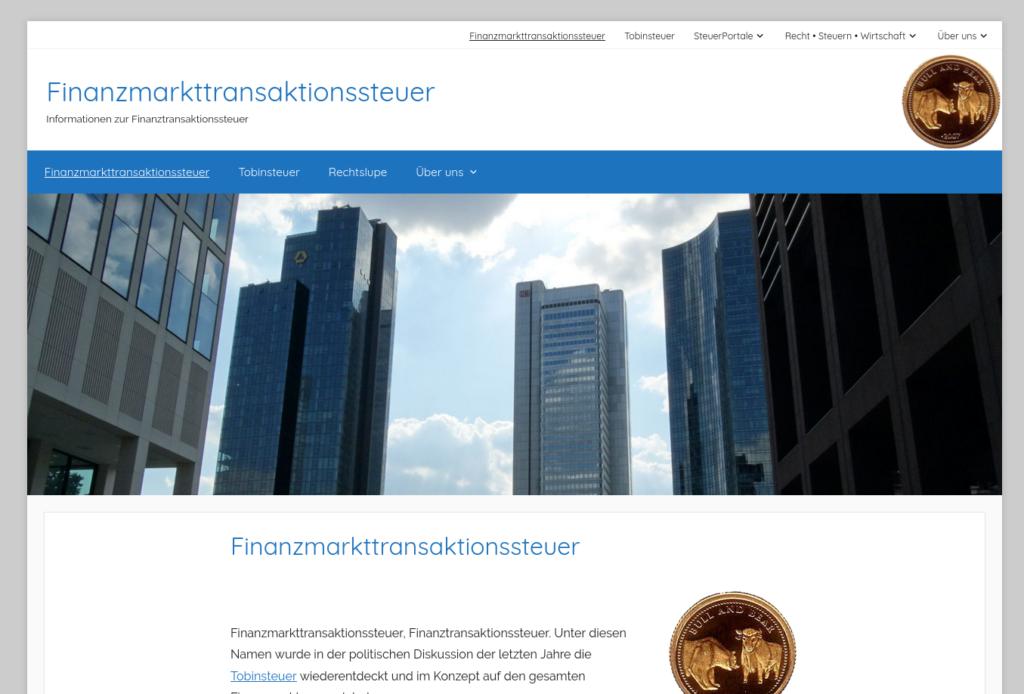 Finanzmarkttransaktionssteuer